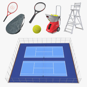 3D model tennis 4