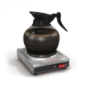 3D commercial coffee pot warmer model
