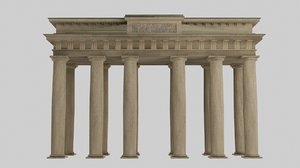 brandeburg door doric temple 3D model