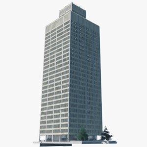 3D model woodward building