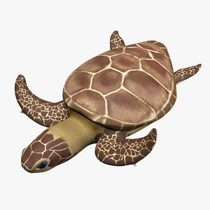 green sea turtle animations model