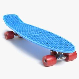 3D model vintage skateboard