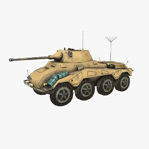 sdkfz 234 puma tank 3D model