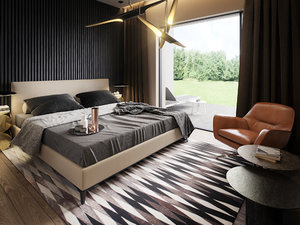 3D interior redshift minotti bed
