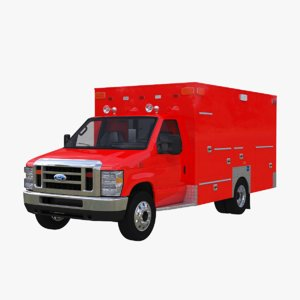 3D 2020 e-series ems ambulance model