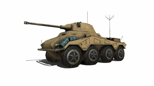 Sdkfz 234 puma tank 3D model - TurboSquid 1538395