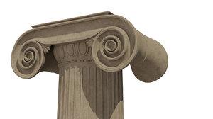 3D ionic column architecture model