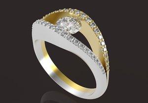 female ring 5 mm 3D model