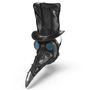 steampunk doctor mask hat model