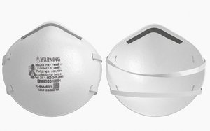3D model mask particulate respirator