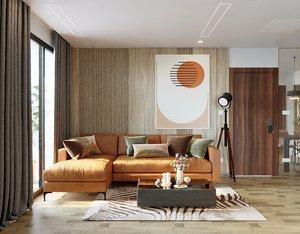 3D room living model