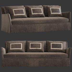 caracole fair square sofa 3D model