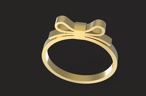 3D bowknot ring