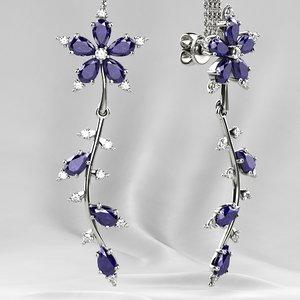 5cm earrings 3D