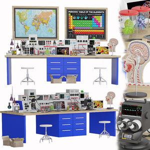medical laboratory set 3 3D model