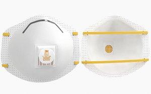 3D mask particulate respirator 8511 model