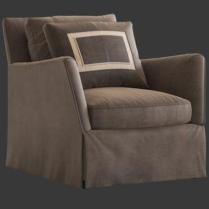 3D model caracole fair square armchair