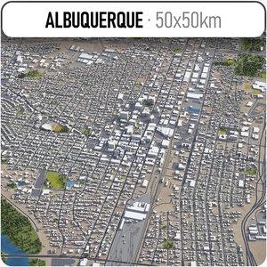 city albuquerque 3D model