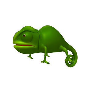 chameleon cartoon 3D