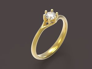 engagement ring narcissus 3D model
