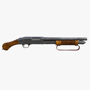 shotgun mossberg 590 old 3D model
