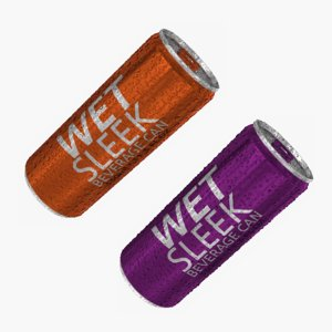 3D model wet sleek 10oz beverage