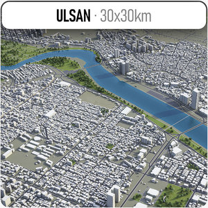 3D ulsan surrounding -