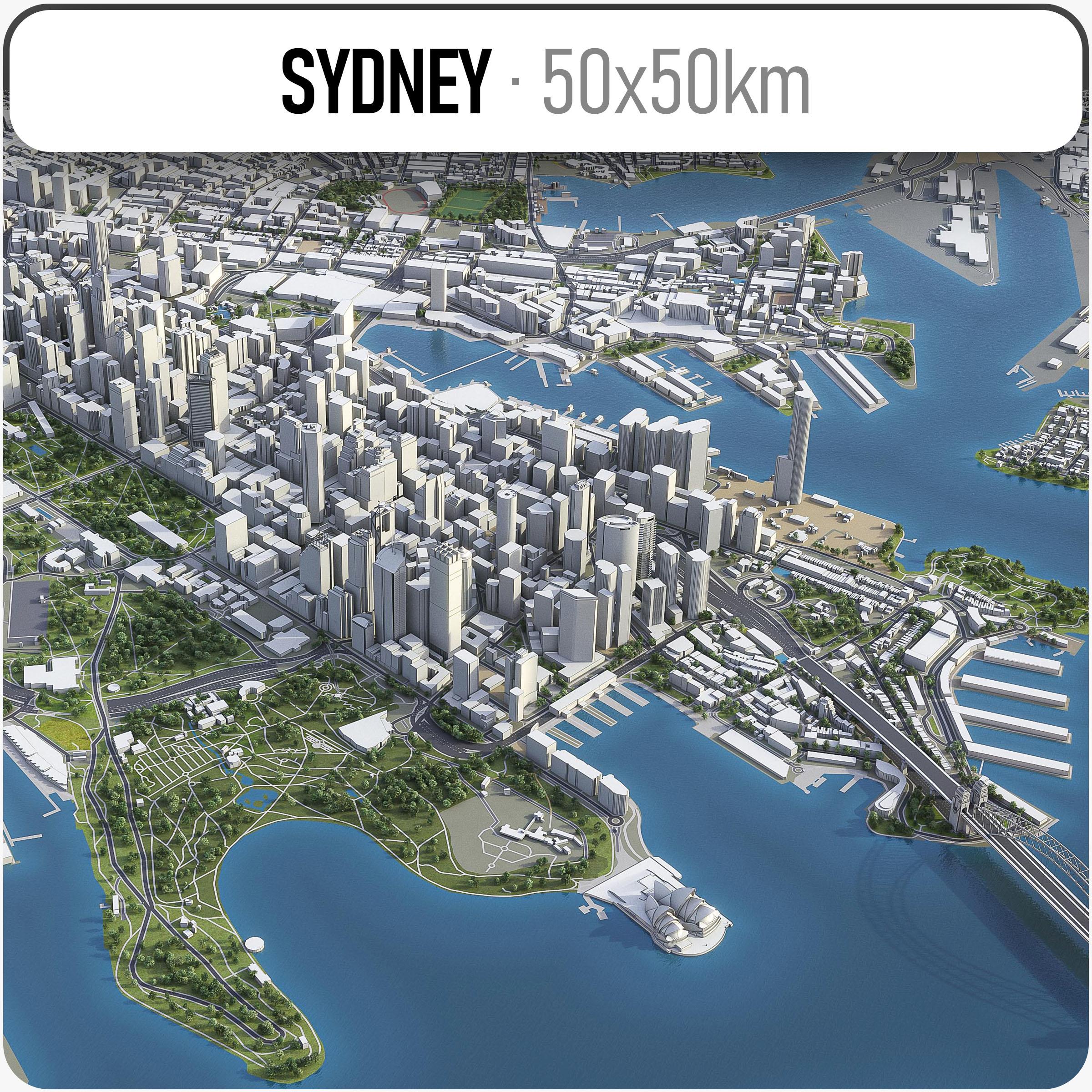 3D sydney town urban