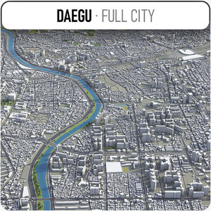 3D daegu surrounding - model