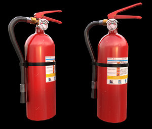 3D extinguisher pbr model
