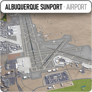 3D albuquerque international sunport - model