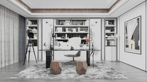 home office 5500x5500 mm 3D model