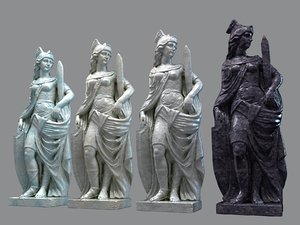 3D classic marble sculpture model