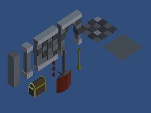 3D dungeon kit