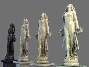 3D classic marble sculpture