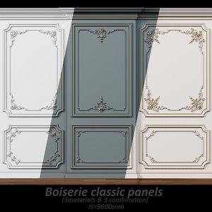 3D wall molding 5 boiserie
