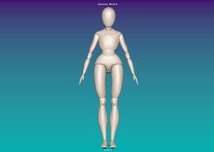 3D puppet bjd model