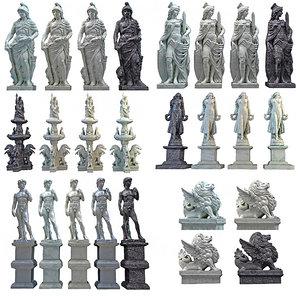 3D classic marble sculpture mega