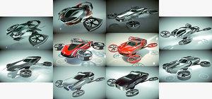 3D 10 1 cool copter model