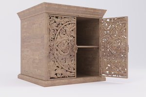 3D model sideboard carved doors
