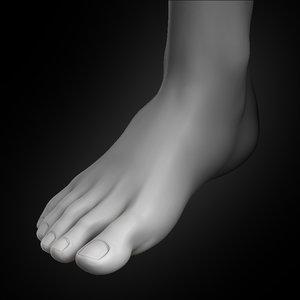 human foot 2020 3D model
