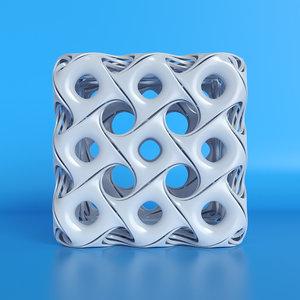 3D model cube