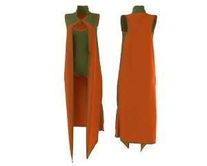 3D model designer cape