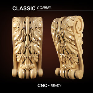 classical bracket cnc 3D