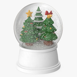snow globe christmas trees model