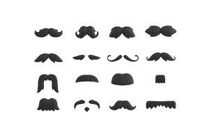 3D mustache pack