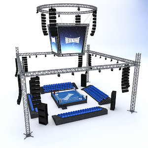 boxing area 3D model