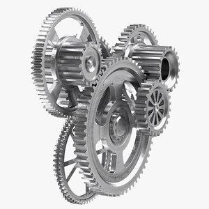 metal gear mechanism modo model