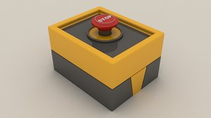 3D emergency panic button model