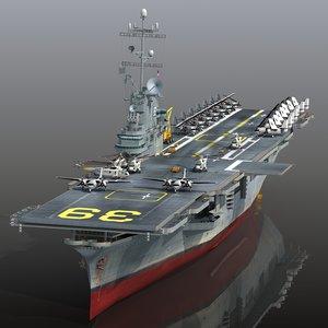 uss lake champlain cv-39 3D model